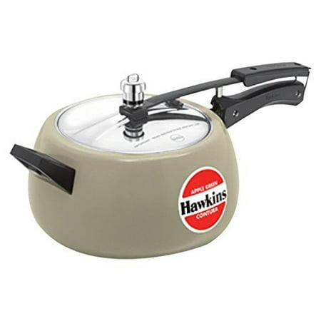 Hawkins Ceramic Coated Contura Pressure Cooker  5 L  Apple Green