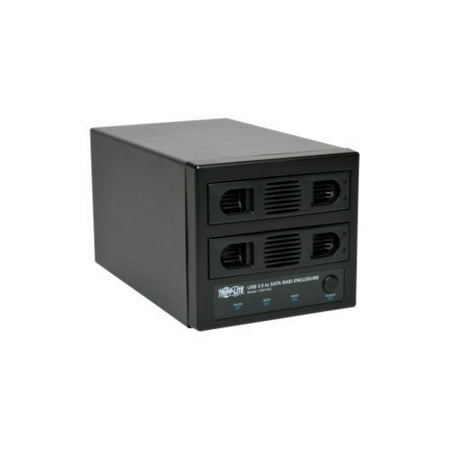 Tripp Lite USB SuperSpeed 2-Bay SATA Hard Drive RAID Enclosure w/