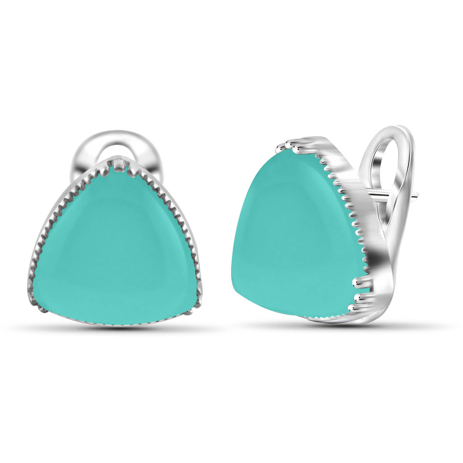 JewelersClub 17-1 2 Carat T.G.W. Chalcedony Sterling Silver Stud Earrings by JewelersClub