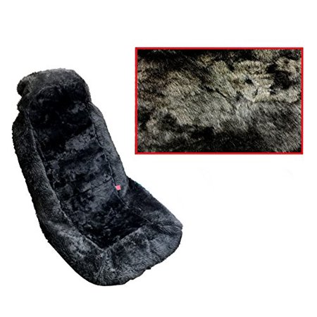 Premium Genuine Sheepskin Auto Seat Covers Front Car Seats One Cover Black