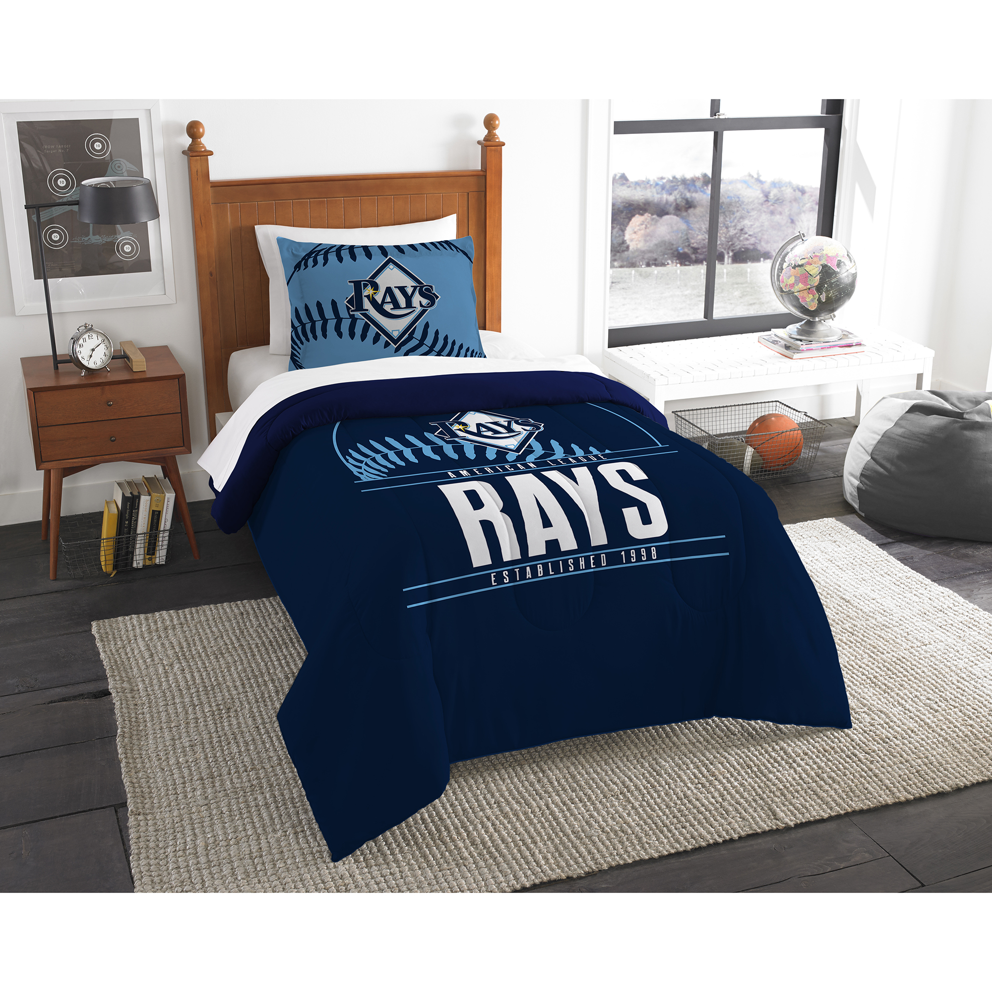 Tampa Bay Rays The Northwest Company Grand Slam Twin Comforter Set