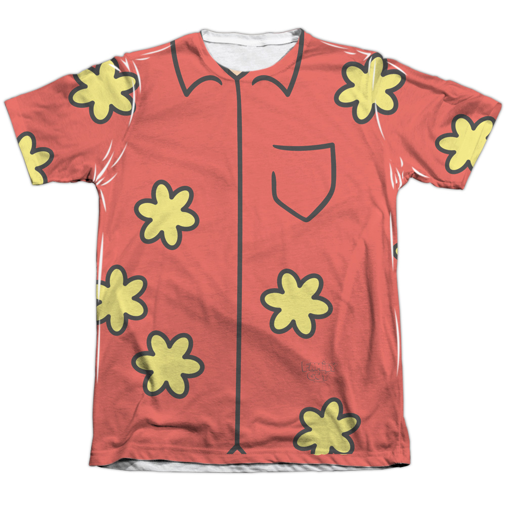 The Family Guy Quagmire Costume (Front Back Print) Mens Sublimation Shirt