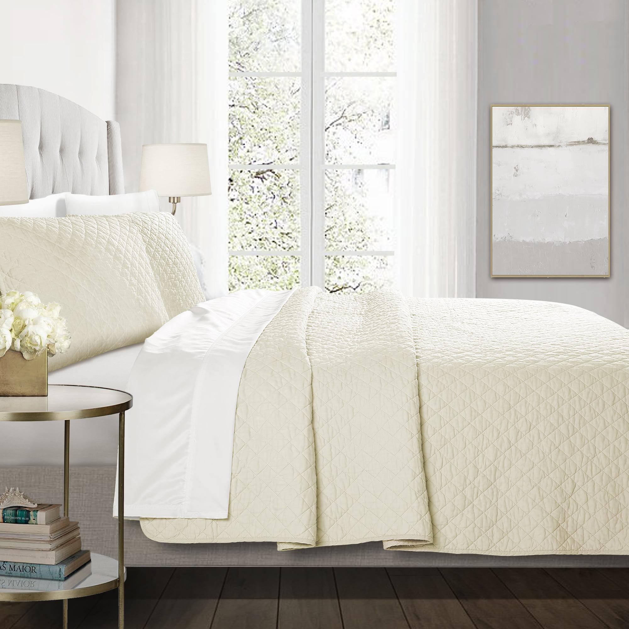Ava Diamond Oversized Cotton Quilt 3pc Set