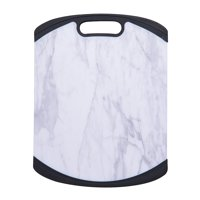 Farberware 11 x 14 Inch Marble Pattern Nonslip Poly Cutting Board