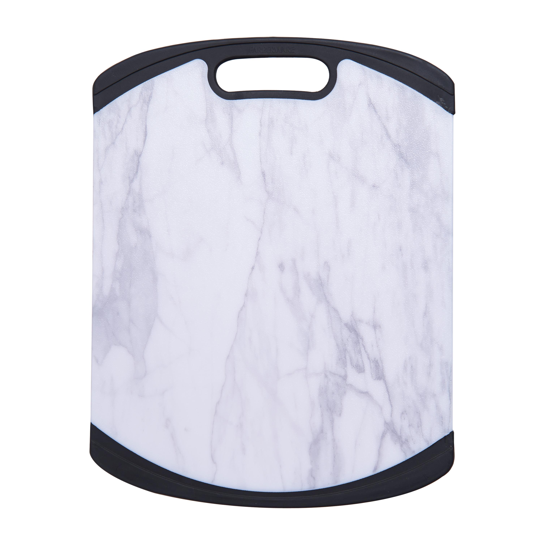 Farberware 11 x 14 Inch Marble Pattern Nonslip Poly Cutting Board