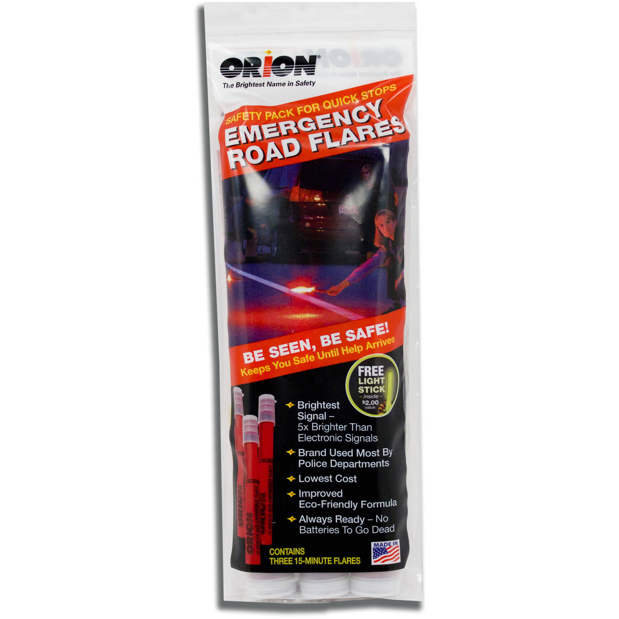 Orion Flares 15-Minute Waxed Flares with 8-Hour Light Stick