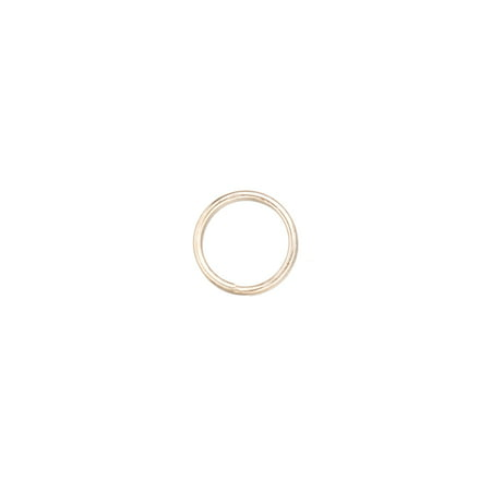 8mm Platinum-Finished Brass Split Rings With 0.8mm Wire Sold per pkg of 100
