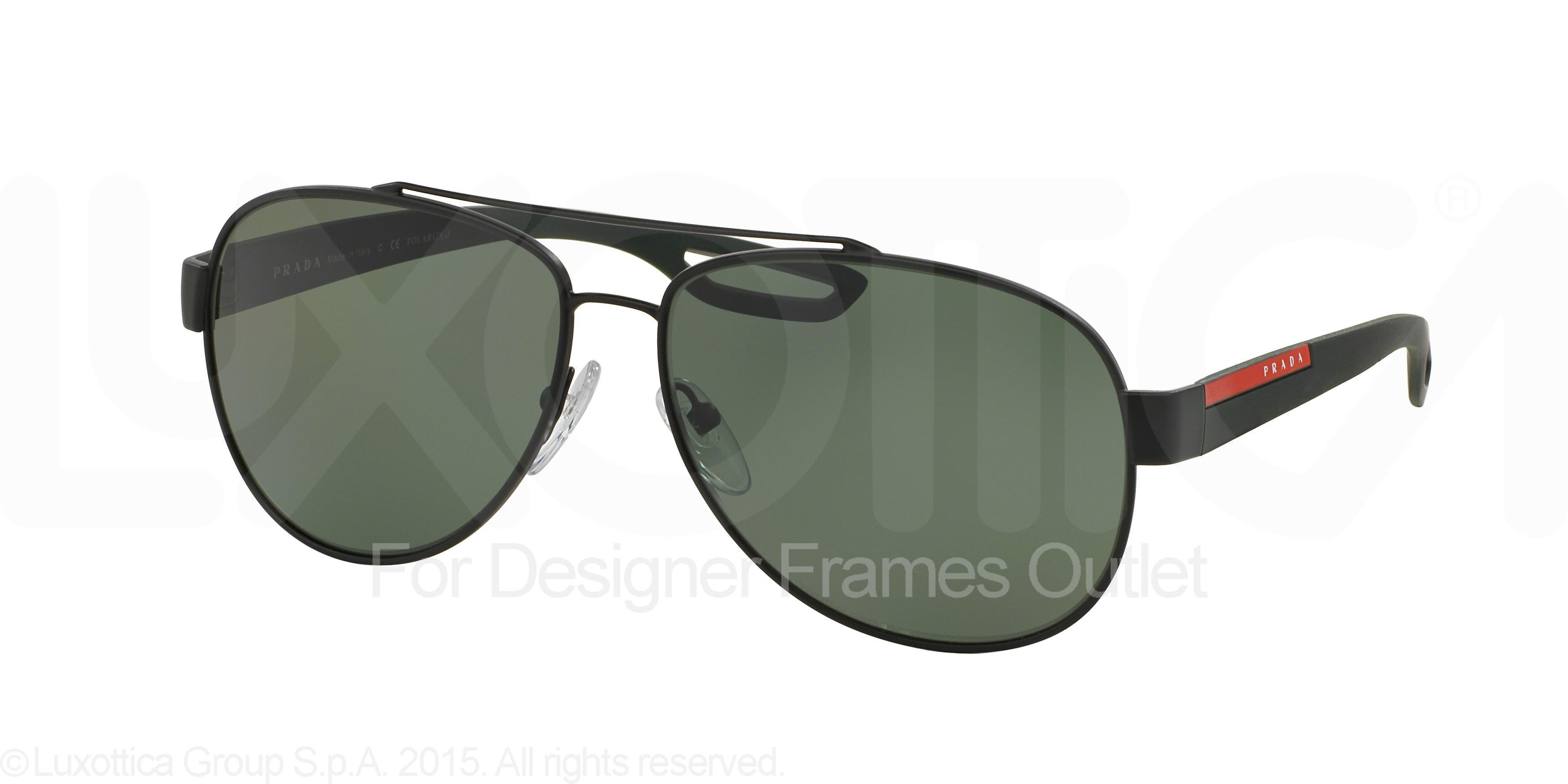 43da33d262b1e PRADA SPORT - PRADA SPORT Sunglasses PS 55QS DG05X1 Black Rubber 59MM -  Walmart.com