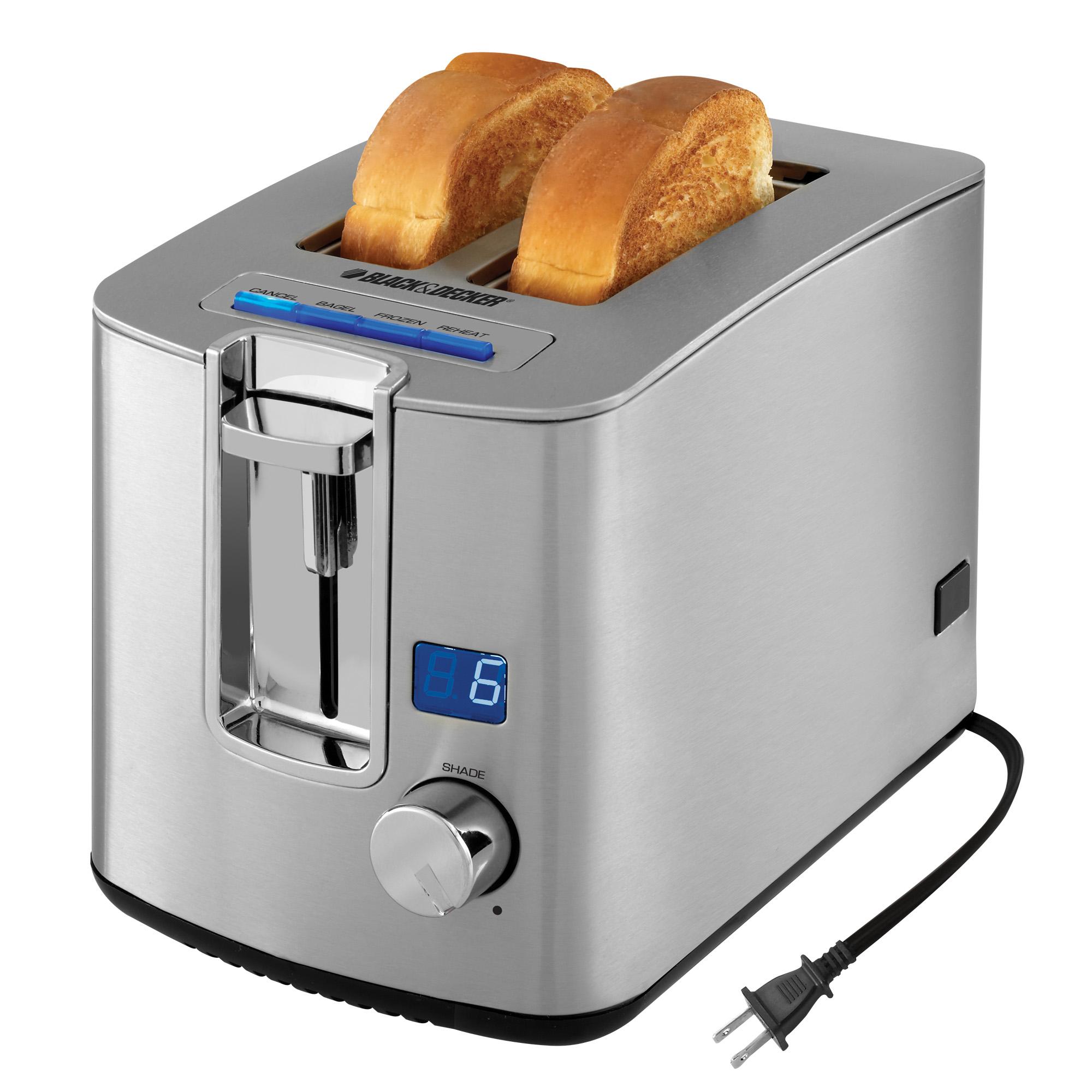 BLACK+DECKER 2-Slice Toaster, Stainless Steel, TR1280S