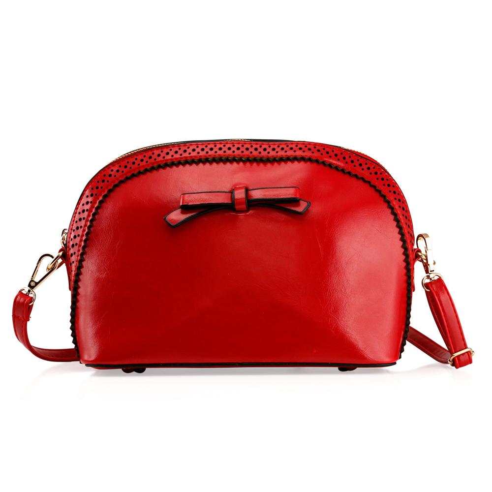 Fashion Women Handbag Bow Tie Shoulder Bags Tote Crossbody Satchel Purse PU Leather Lady Messenger Hobo Bag (Motheri s day Gift) - Red