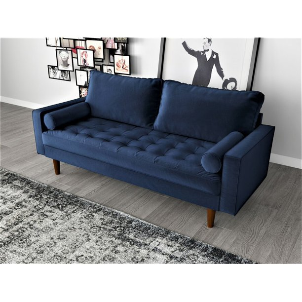 Us Pride Furniture Mac Sofa Space Blue Walmart Com Walmart Com