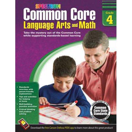 Common Core Math And Language Arts  Grade 4