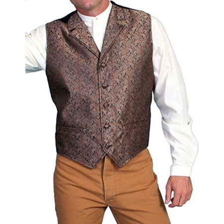 Scully Western Vest Mens Quality Imported Paisley Button RW129XX](Western Vests)