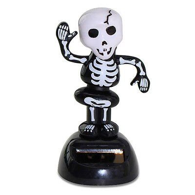 Funny Homemade Halloween Decorations (Halloween Dancing Skeleton Solar Powered Bobble Head Toy Scary Funny Decoration)