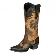 Lane Western Boots Womens Maggie Vintage Black Brown Taupe LB0200D