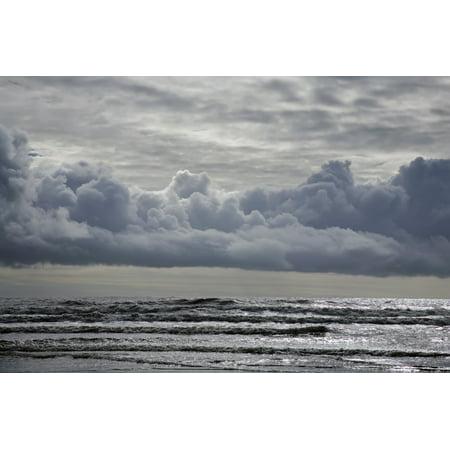 Silver Waves Shot From Stradbally Beach Copper Coast Geopark County Waterford Ireland Posterprint