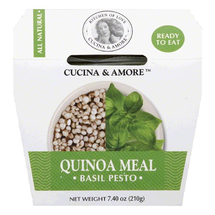 Cucina & Amore Basil Pesto Quinoa Meal, 7.4 OZ (Pack of 6) by