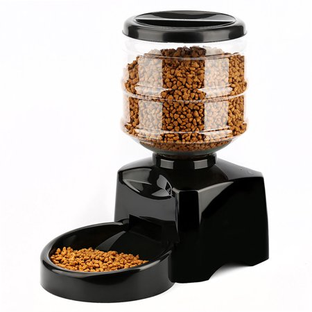 5.5L Automatic Pet Feeder, Legendog Programmable Dispenser with Voice Message Recording and LCD Screen for Dog Cat
