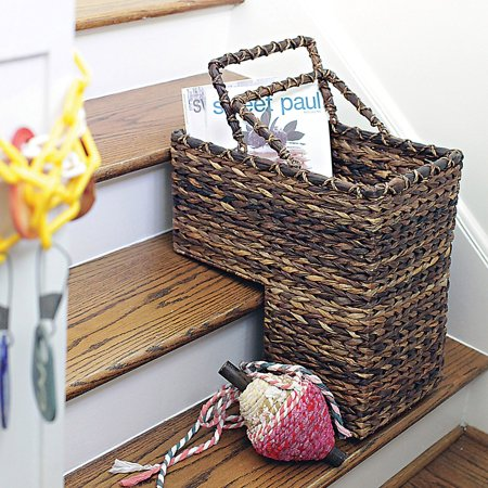 Stair Basket - 3R Studios BacBac Woven Stair Decorative Basket