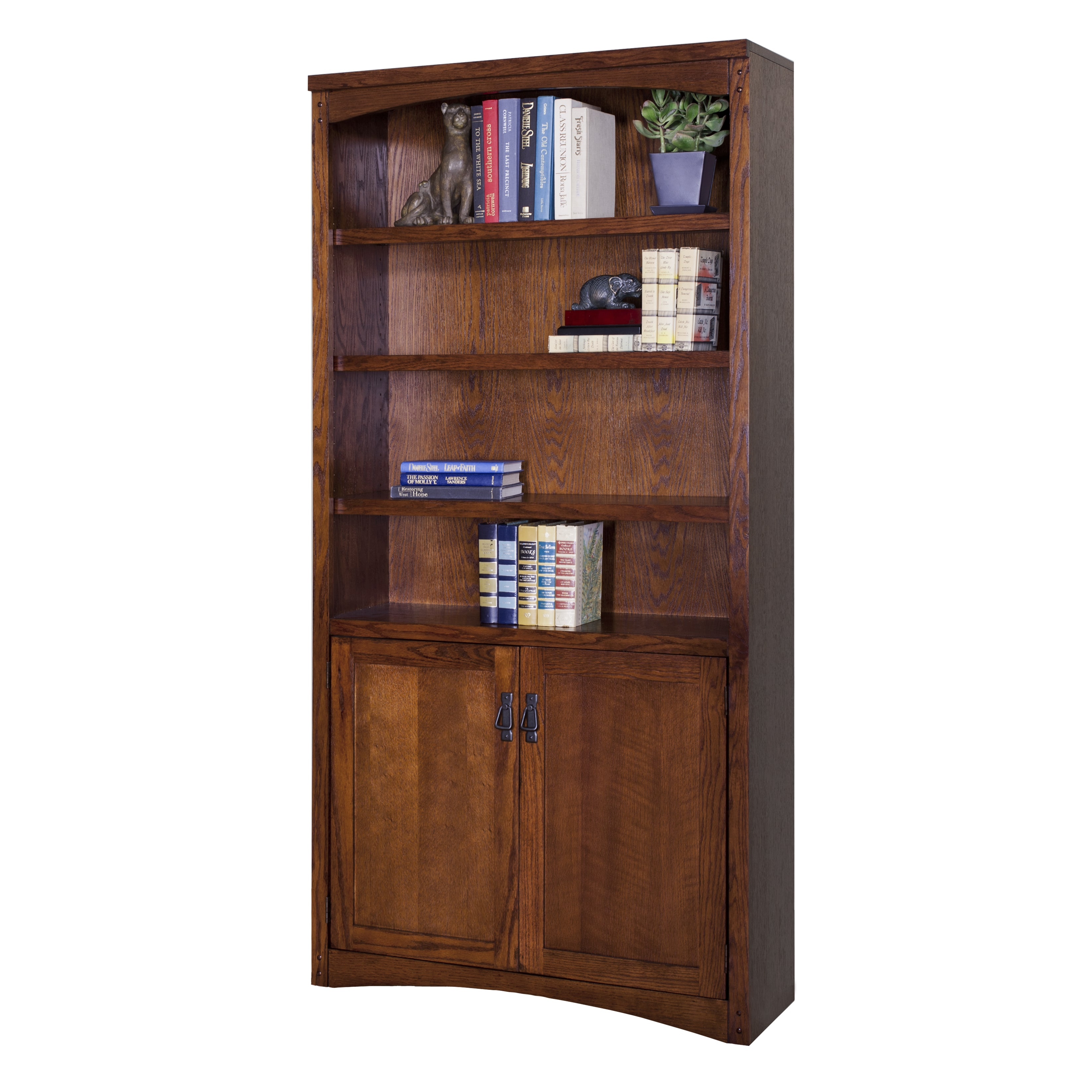 Martin Furniture Mission Park Brown Wood Library Bookcase