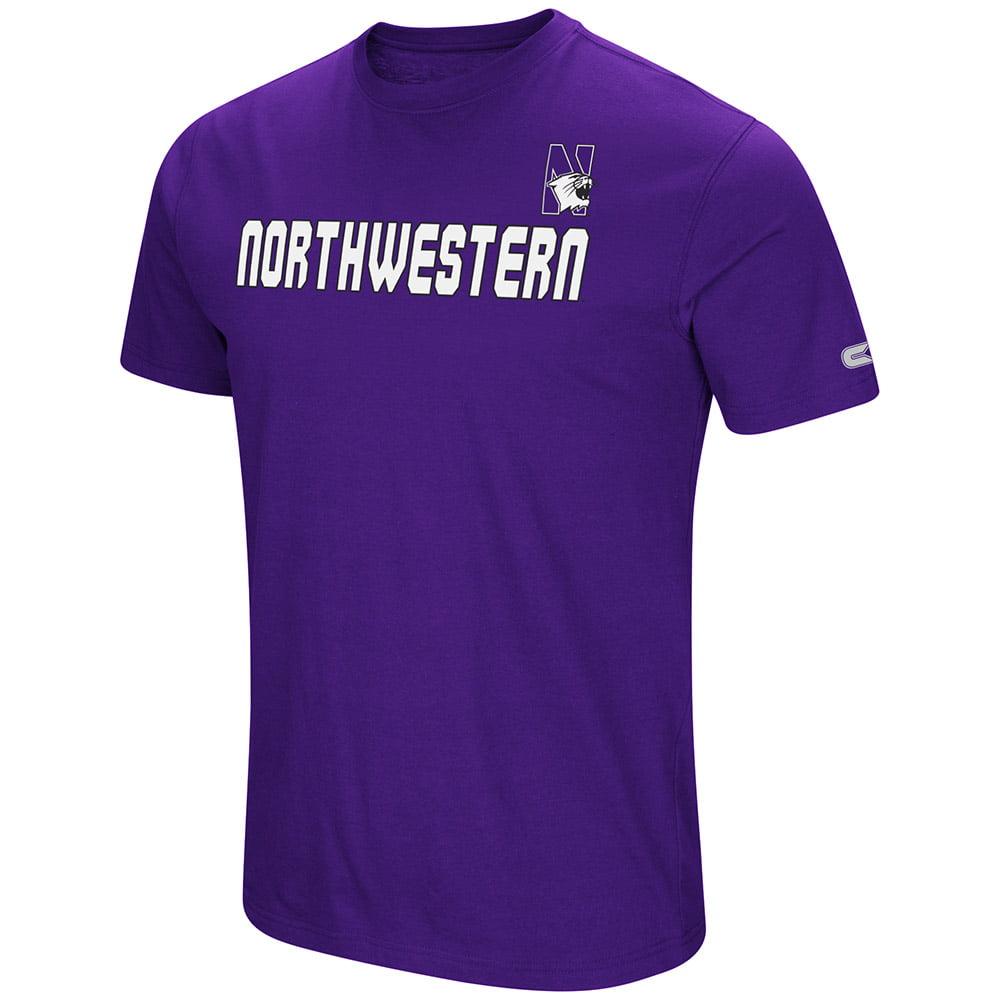 "Northwestern Wildcats NCAA ""Water Boy"" Men's Dual Blend S/S T-Shirt"