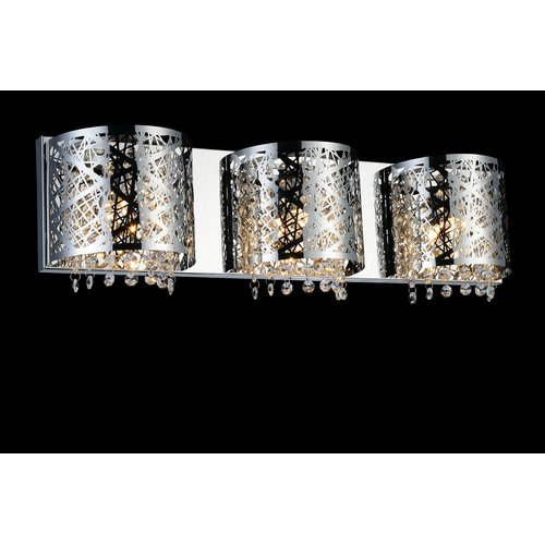 Crystal World 3-Light Wall Sconce