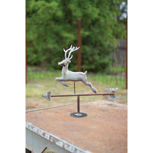 GwG Outlet Table Top Galvanized Deer Weathervane NZK1025
