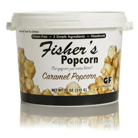 Fisher's Popcorn Caramel Popcorn, 11oz Tub (1/2 Gallon) 2 Gallon Caramel Popcorn