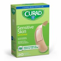 Curad Sensitive Skin Bandages, Tan, 30 Ct