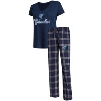 Memphis Grizzlies Concepts Sport Women's Troupe V-Neck T-Shirt & Pants Sleep Set - Navy