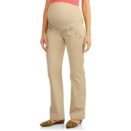 5dc56eac2e3 Planet Motherhood - Full Panel Woven Plus-Size Maternity Pant With  Button-Front Curved Pockets - Walmart.com
