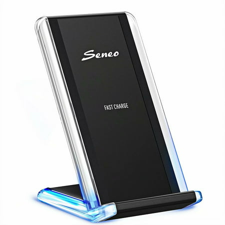 Seneo Fast Wireless Charger , Qi Fast Wireless Charging Pad, Breathing  Light, Phone Stand, Fast Mode for Galaxy Note 8, S8 Plus,S7 Edge, Note 5,