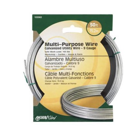 Hillman 122062 Multi-Purpose Galvanized Wire 9 Gauge, 50'