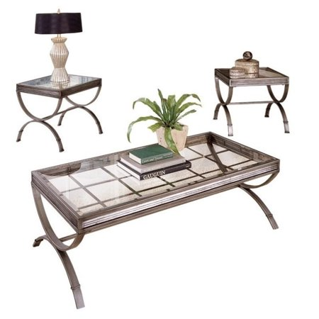 Steve Silver Company Emerson 3 Piece Coffee And End Table Set In