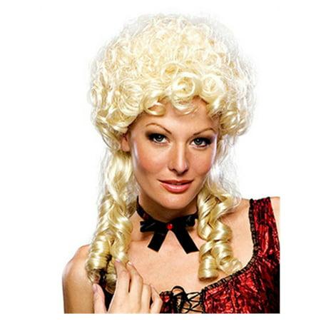 Adult Womens Blonde Colonial Marie Antoinette Victorian Maiden Costume Wig - Marie Antoinette Costume Wig