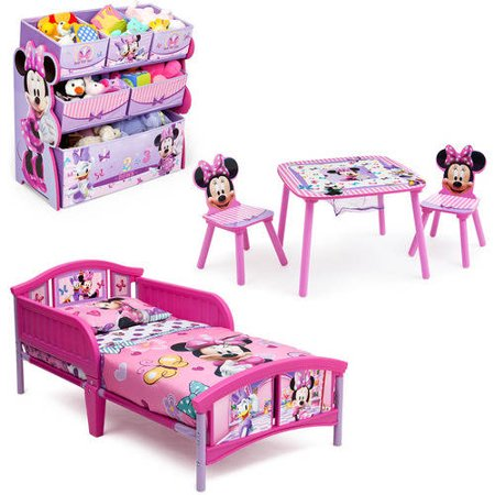 Disney Minnie Mouse Bedroom Set With BONUS Toy Organizer EBay