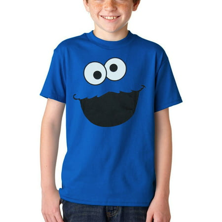 Sesame Street Cookie Monster Face Youth Kids T-Shirt (Cookie Monster Tie)