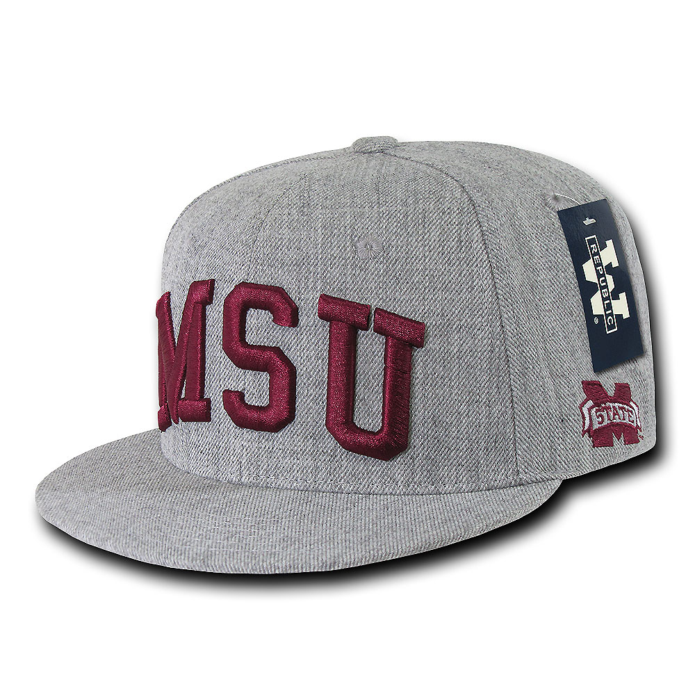 Mississippi State Bulldogs Game Day Fitted Hat (Gray)