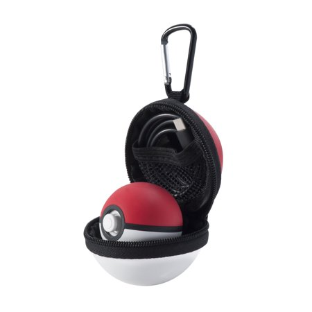 Protective Carrying Hard Case with Carabiner for Pokeball Accessories,Travel Bag Pokemon Game:Let's Go,Pikachu,Eevee! By Insten - Pokemon Cosplay For Sale