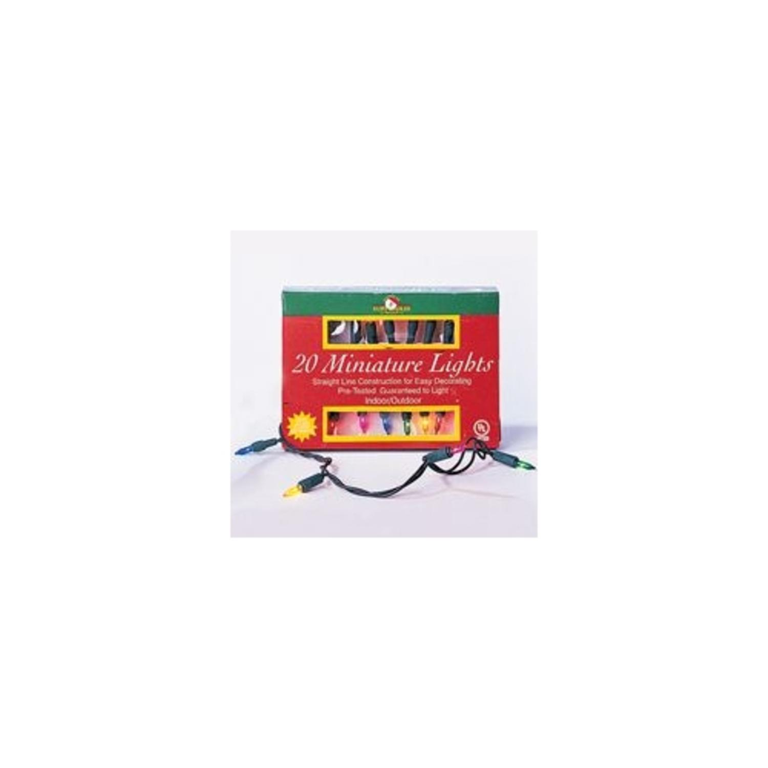 Pack of 6 Sets of 20 Multi-Colored Mini Christmas Lights - Green Wire