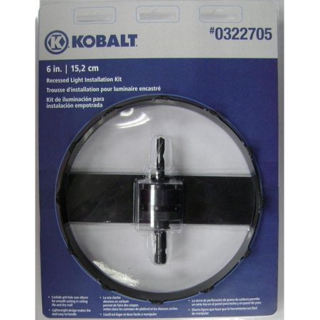 Kobalt Hole Saw Kit Carbide-Grit 6-in Recessed Light Tungsten Carbide