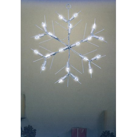 12 battery operated led lighted snowflake christmas window silhouette - Battery Operated Christmas Window Decorations
