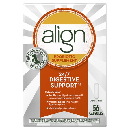 Align Probiotics, Probiotic Supplement for Daily Digestive Health, 56 capsules, #1 Recommended Probiotic by Gastroenterologists