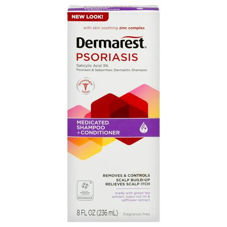 Dermarest Psoriasis Medicated Shampoo Plus Conditioner, 8 FL