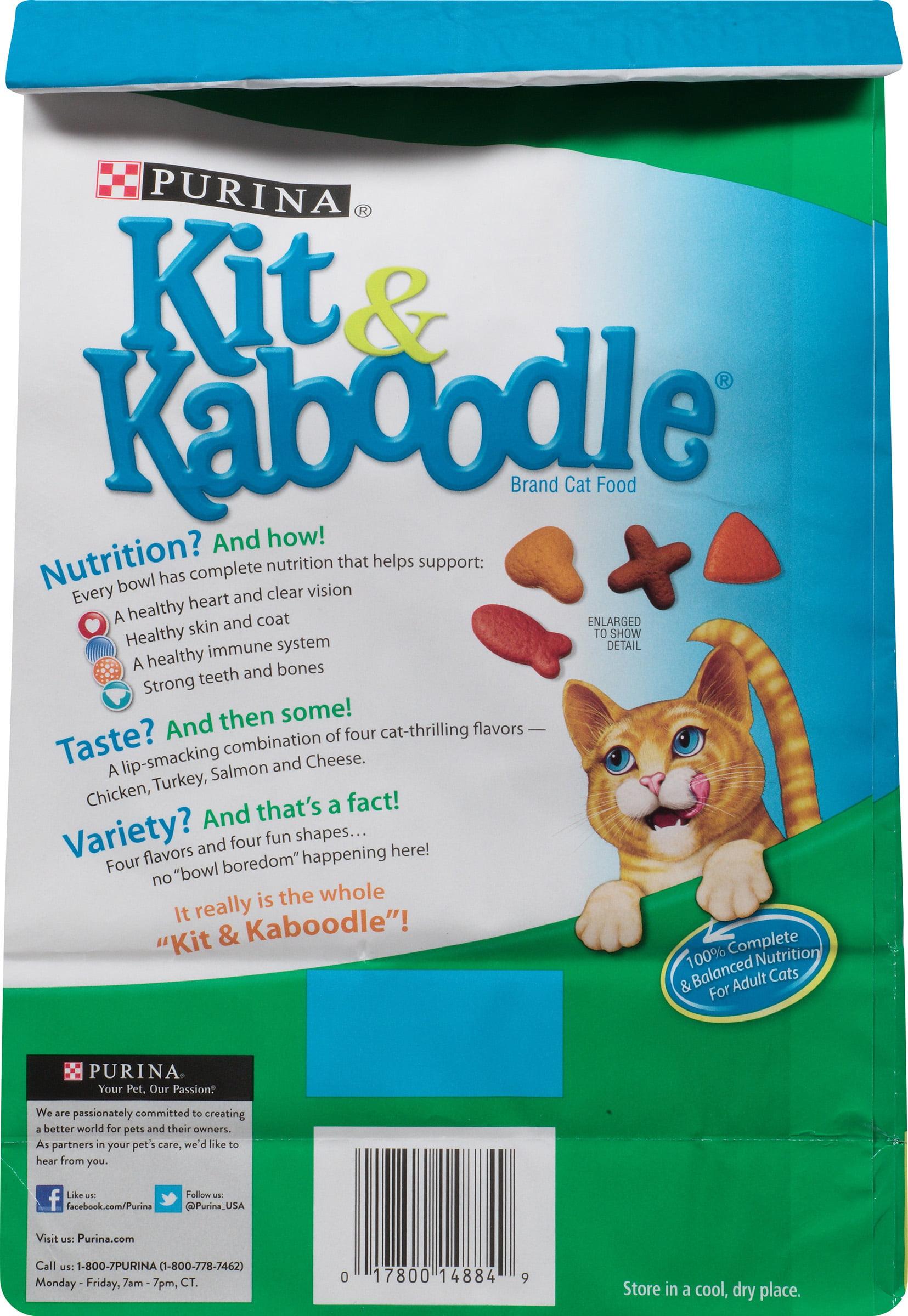 Purina Kit & Kaboodle Essentials Adult Dry Cat Food, 3.15 Lb ...