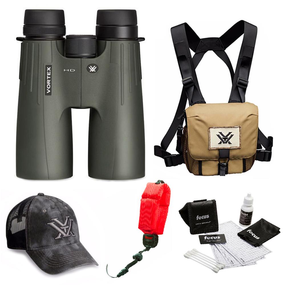 Vortex Optics Viper HD 12x50 Roof Prism Binocular  + Glasspak Harness Bundle