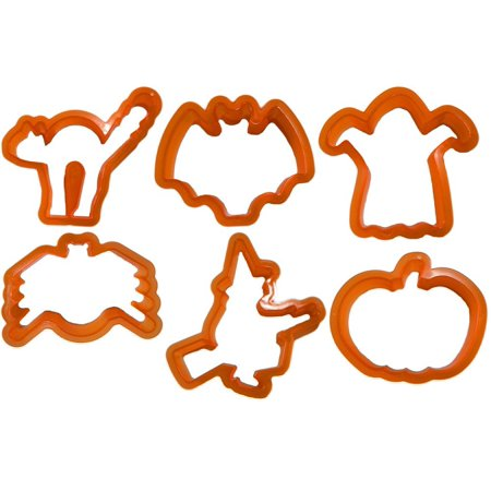 Halloween 6-Design Orange Cookie Cutters](Easy Halloween Cookie Decorating)
