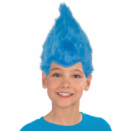 Cheap Blue Wigs (Blue Child Fuzzy Wig)