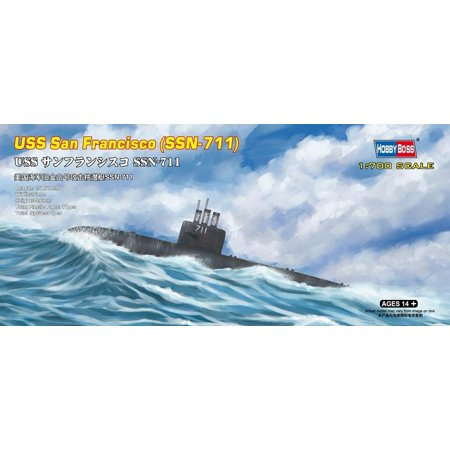 San Model Kit (USS San Francisco (SSN-711) Boat Model Building Kit, Completed length approximately 6 By Hobby)