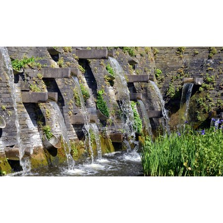 Canvas Print Wet Water Feature Fountain Well Water Water Flow Stretched Canvas 10 x 14